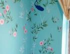 影视墙彩绘、沙发背景墙手绘、玄关设计彩绘 质优价廉