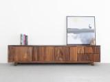 简约北欧日式实木原木南美胡桃家具设计客厅电视柜视听