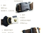宠物厂家专业生产高档的豹纹牵引绳+项圈套装 有现货