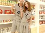 2015年夏季新款情侣装套装 卡通休闲夏季情侣装女裙 情侣T恤