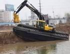 昌吉市出租福田重工215型清淤机械水上挖机租赁网络推广