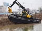 210型水陆挖掘机出租水上挖掘机出租水路挖掘机出租服务正规