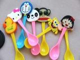创意卡通公仔头汤勺 可爱动物头汤匙 环保塑料儿童勺子