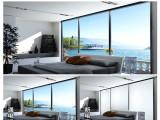 福摩貝斯智能調光玻璃通電霧化夾膠玻璃酒店辦公投影隔斷調光玻璃