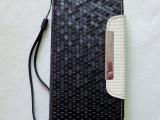 三星S4手机皮套 钻石纹 原装专用 PU 折边套 厂家批发 定制