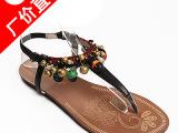夏季女鞋批发 韩版 新款女式凉鞋真皮平底 鞋子代理加盟一件代发
