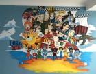 郑州儿童房彩绘 小孩房间手绘 男孩房间彩绘 女孩房间手绘