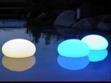 LED发光圆球 LED扁球灯 16色遥控发光时尚装饰防水球 一件