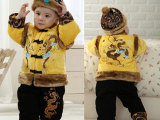 新年儿童唐装棉衣 婴幼儿童装男童宝宝加厚冬装