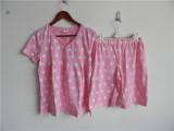 外贸PINK短袖短裤睡衣套装 两件套 家居服