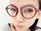 批发可爱豹纹圆框眼镜架眼镜框 复古intage清新文艺范平光眼镜