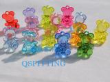 DIY饰品配件串珠材料 透明彩色亚克力挂件 仿水晶韩版小熊
