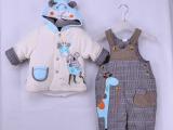 童装男童卡乐吉瑞比长颈鹿和朋友连帽背带棉衣厂家热批