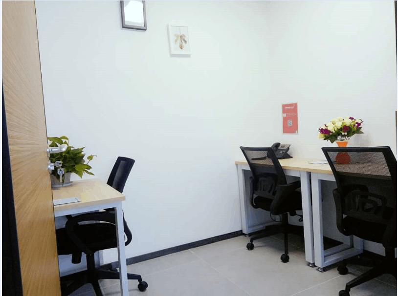 华强南2-4人独立办公室出租,小面积单间带凭证