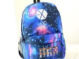 正品exo双肩包 时尚中学生书包星空韩版潮明星同款旅行包外贸爆款