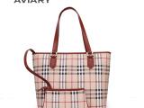 2014真皮时尚女包单肩手提包格子纹广州白云皮具品牌外贸女士包包