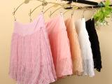 日韩新款网纱半身裙 夏季防走光显瘦薄款打底裙 纯色雪纺百搭短裙