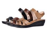 夏季新款舒适真皮凉鞋头层牛皮坡跟防水台妈妈鞋中跟大码女凉鞋子