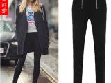 欧美时尚打底裤女装 本素爆款伙拼小脚裤铅笔裤安全裤 一件代发