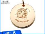 广东东莞箱包金属配件厂家专业定制高档锌合金吊牌