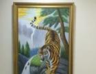 手绘油画,猛虎下山
