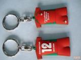 厂家定制pvc软胶钥匙扣 卡通钥匙扣 滴胶钥匙扣
