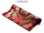 热卖精致手工真丝丝绸绣花布料 进口深红色印度瓦拉拉斯好甲扎