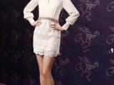 2014新款女装 范冰冰明星同款蕾丝真丝短裙 连衣裙