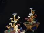 铜胎掐丝珐琅百宝灵芝盆景