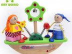 木制玩具 益智玩具 外贸余单 跷跷板 小丑平衡玩具 幼儿配对115