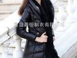 厂家供应   冬装新品女士 修身 中长款皮羽绒