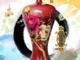 钧瓷花开富贵美人瓶 造型古朴端庄线条流畅