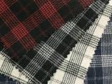 现货小批 色织布 全棉 格子衬衫面料千鸟格布料 磨毛女装童装绒布