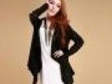 2013夏季新款欧美外贸代加工工厂原单长款不规则设计女式针织开衫