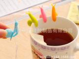 2015最新硅胶礼品  韩国可爱派对蜗牛硅胶茶包挂 杯子区分夹子