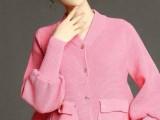 时尚欧美秋冬新品大码女装加厚拼接保暖立领长袖外套毛衣