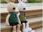日本同步发售 经典毛衣款情侣太子兔/苏克雷兔魔力兔 毛绒公仔