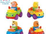 汇乐玩具 快乐动物车队356B惯性车儿童趣味益智可爱 厂家直销