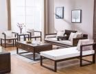 时尚橡木新中式沙发七件套
