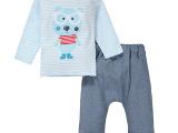 momscare春秋季童装纯棉宝宝套装 婴儿套头衫 休闲儿童两件