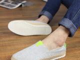 爆款2014春季新款拼色时尚男鞋批发 韩版潮流透气男帆布鞋男板鞋