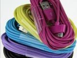 厂家 批发3米彩色usb数据线 手机充电线 iPad3/2 iP