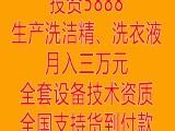 北京家庭办厂生产洗衣液洗洁精洗手液千元加盟送全套设备年赚百万