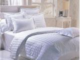 酒店客房布草床上用品四件套 40s三公分缎条系列 1.8M床
