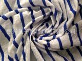 涤棉针织提花面料 条纹蕾丝风格 时尚流行女装面料