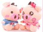 麦兜猪 调皮猪 情侣猪毛绒玩具公仔 娃娃 玩偶 婚庆礼品 压床礼物