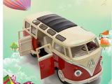 美致大众巴士合金132跑车玩具25052赛车模型玩具合金跑车