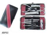 供应不锈钢美妆用品 皮套美容套装  美容工具