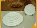 厂家热销酒店陶瓷餐具圆形酒店陶瓷盘 优质低骨瓷平盘 优质从优