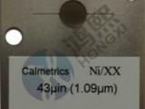 Ni40uinch镍元素镀层测厚仪标准片